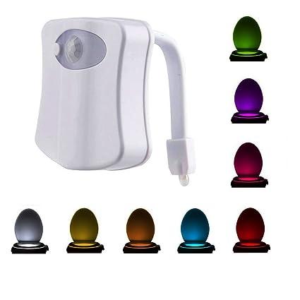 nadakin activado por movimiento Sensor de luz nocturna para inodoro, sensibilidad LED inodoro luz interior