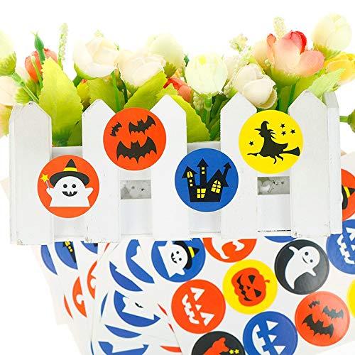 Party Diy Decorations - 60pcs 120pcs Halloween Seal Stickers Ghost Bat Pumpkin Biscuit Cake Bag Candy Box Label Sealing - Party Decorations Party Decorations Cute Plastic Sticker Candy Pr -