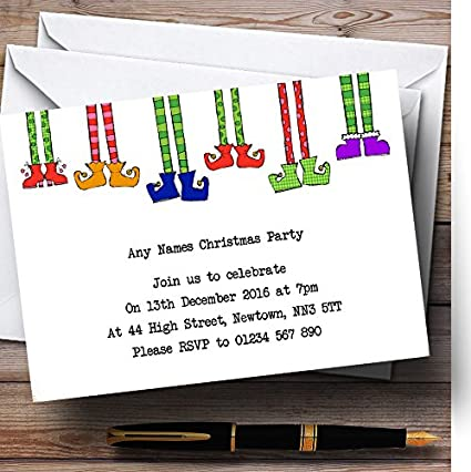 Amazon.com : Funny Elf Legs Personalized Christmas/New Year/Holiday ...