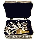 elegantmedical Stations of The Cross Prayer Rosary Blue Sandstone Beads Necklace Catholic Gifts