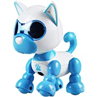 guoYL26sx Toys Interactive Robot Smart Puppy Dog LED Eyes Walking Recording Children Kids Toy - Blue