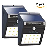 [2 pack] Solar Motion Sensor Light,Holan 12 LED Rainproof Powered Security Light Outdoor with 2 Intelligent Modes for Garden,Outdoor,Fence,Patio,Deck,Yard,Home,Driveway …