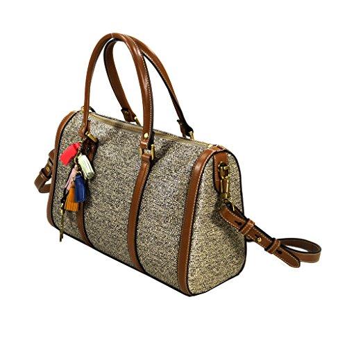 Fossil KENDALL Satchel Natru Multi ZB7156-994 Damen Handtasche Tasche Henkeltasche Schultertasche Umhängetasche