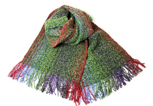 Mucros Irish Scarf Merino Wool and Cashmere Blend 62 Inches Long by 9 Inches Wide Green Made in Ireland