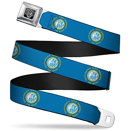 South Belt Dakota - Buckle-Down Seatbelt Belt - South Dakota Flags - 1.0
