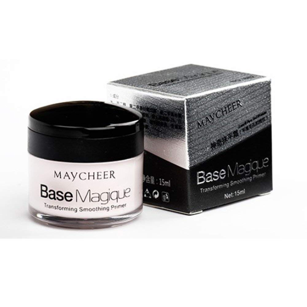 BFHCVDF Smoothing Cream Foundation Cream Moisturizing Invisible Pores Fine Lines White/&black