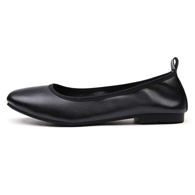 Zapatos De Trabajo Zapatos Planos Para Mujer Mocasines Casuales Blandos Ballet Pliegue Plano Zapatos De Barco Zapatillas De Conducción: Amazon.es: Ropa y ...