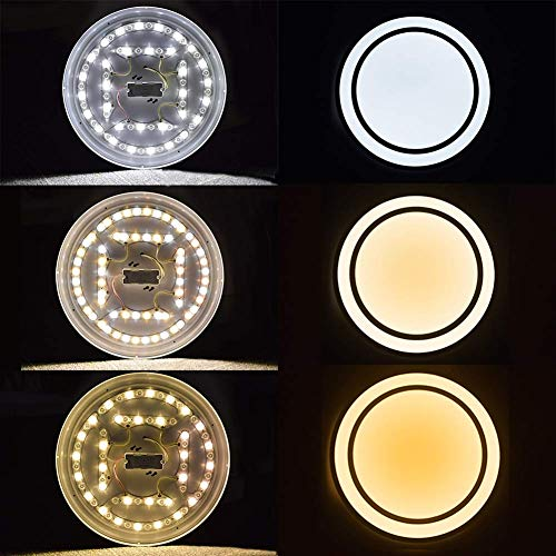 W-LITE 48W Dimmable Led Flush Mount Ceiling Light Lighting with Remote-20 Inch Close to Ceiling Lights Fixture for Bedroom/Living Room/Dining Room, 3000K-6000K Color Changeable by W-LITE (Image #1)