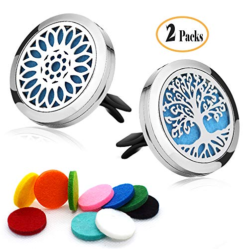 2 Packs Car Diffuser Vent Clip Car Diffuser Essential Oils Aromatherapy Car Vent Decorations with Felt Pads