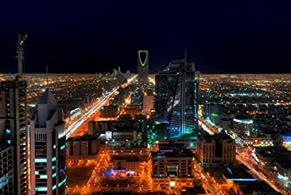 HDR - Saudi Arabia - Riyadh Skyline by Night 5 by Hady Khan