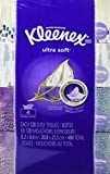Kleenex Ultra Soft Facial Tissue Regular (Pack of 4), 120 count Each, 3 ply, White