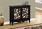 Monarch Mirror Traditional Style Accent Chest, Antique Black