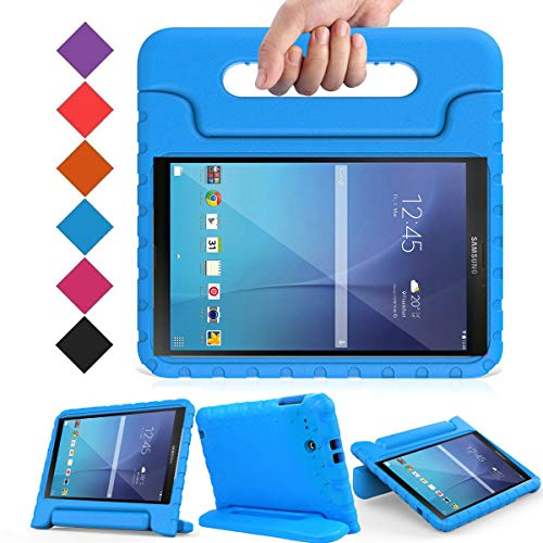 BMOUO Kids Case for Samsung Galaxy Tab E 9.6 - Shockproof Light Weight Convertible Handle Stand Protection Case for Samsung Galaxy Tab E/Tab E Nook 9.6 Inch Tablet (SM-T560/T561/T565/SM-T567V), Blue (Samsung Tablet Military Case)