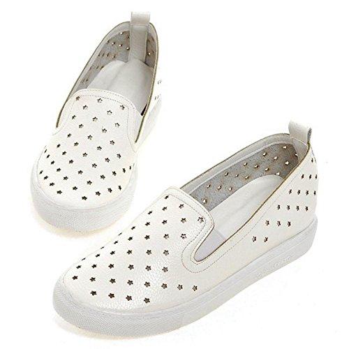 Coolcept Zapatos con Huecos de Tacon Bajo para Mujer White