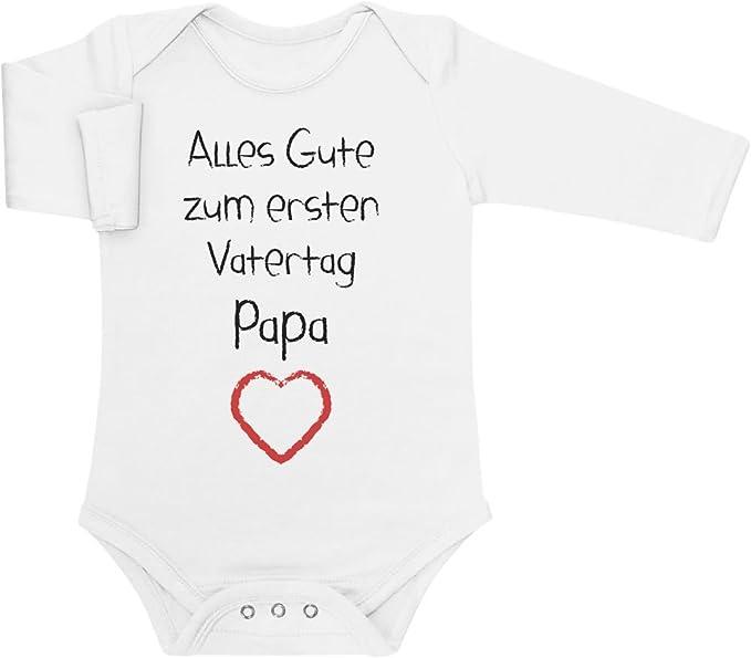 Shirtgeil Alles Gute Zum Ersten Vatertag Papa Herz Vater Geschenk Langarm Baby Body