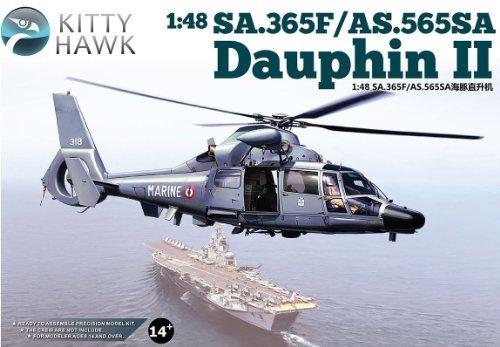 tienda de venta en línea KTH80108 1 48 Kitty Hawk SA.365F SA.365F SA.365F   AS.565SA Dauphin II Helicopter MODEL KIT by Kitty Hawk  promociones de equipo