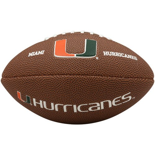 NCAA Miami Hurricanes Team Football, Mini, Brown