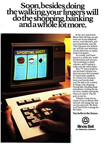 Bell Illinois (1984 Illinois Bell: Your Fingers Will Do the Shopping, Banking, Illinois Bell Print Ad)