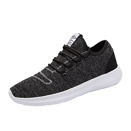 - KEEZMZ Men's Running Shoes Fashion Breathable Sneakers Mesh Soft Sole Casual Athletic Lightweight Black-46
