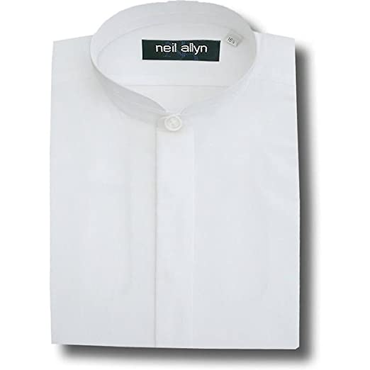 Neil Allyn Banded Collar Poly Cotton Shirt For Men At Amazon Men S