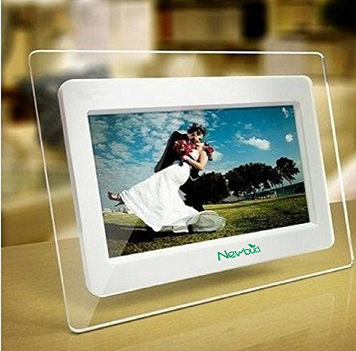 7 Inch TFT LCD Wide Screen Digital 2000 Photos Display Frame with Calendar Support Tf Sd/Sdhc/Usb Flash Drives- Support 32GB SD Card by Newbud