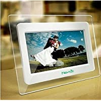 7 Inch TFT LCD Wide Screen Digital 2000 Photos Display Frame with Calendar Support Tf Sd/Sdhc /Usb Flash Drives- Support 32GB SD Card