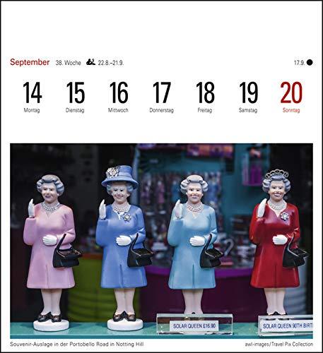 16 cm x 17,5 cm Postkartenkalender mit 53 heraustrennbaren Postkarten Harenberg-Verlag Sehnsuchtskalender London Kalender 2020