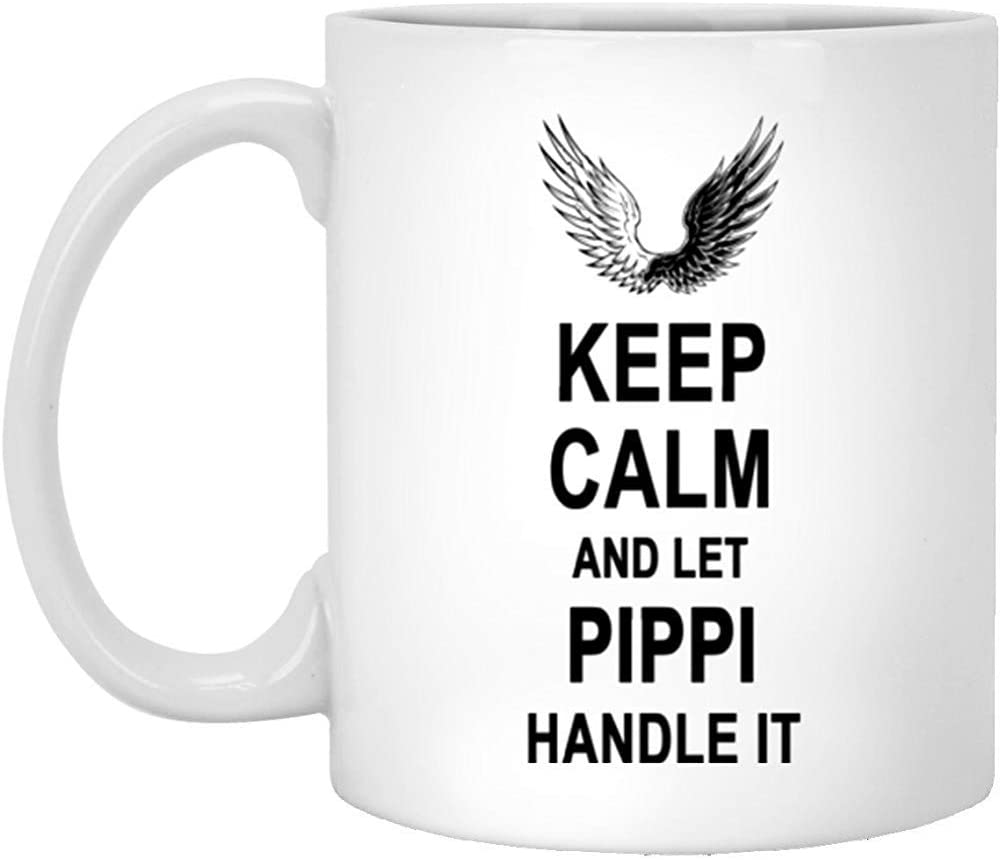 Cup-Keep Calm and Let Pippi Handle It Coffee Mug-Gifts for Men Women On Birthday Christmas Special Event-Perfect Gift Tea Cups White 11Oz