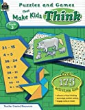 img - for Puzzles and Games that Make Kids Think Grd 3 book / textbook / text book
