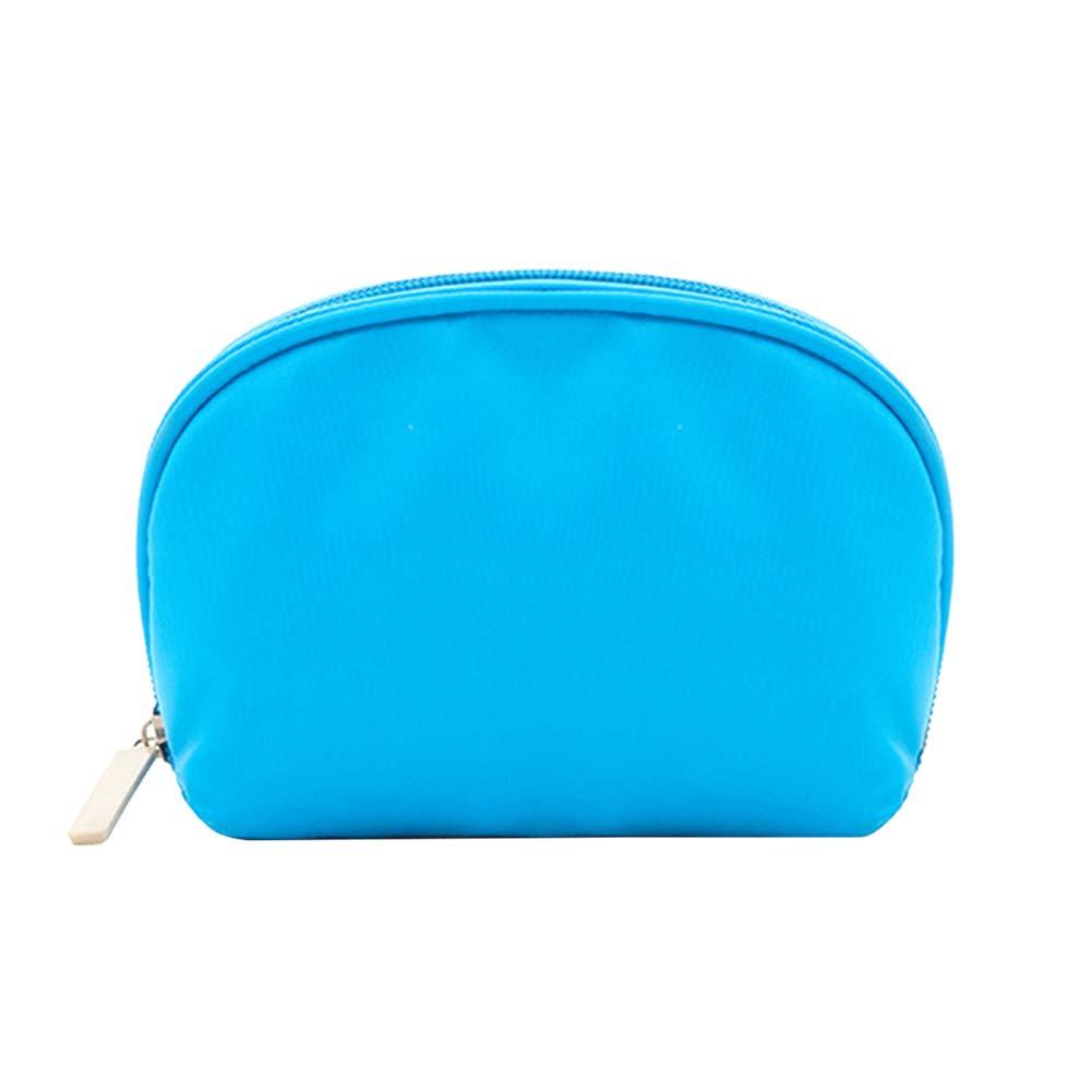 tonpot grande capacità portatile mezzaluna demi-coquille rotonda in nylon cosmetico Borsa di stoccaggio di viaggio borsa multifunzionale borsa di lavaggio Organizzatore per uomini, Nylon, arancione, 18*4.5*13cm