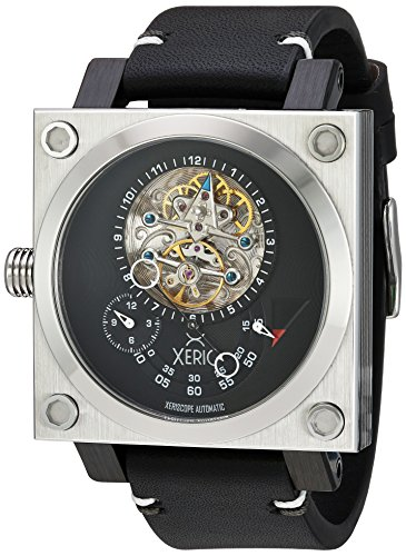 Xeric Men's Stainless Steel and Leather Casual Watch, Color:Black (Model: XS2-3014)