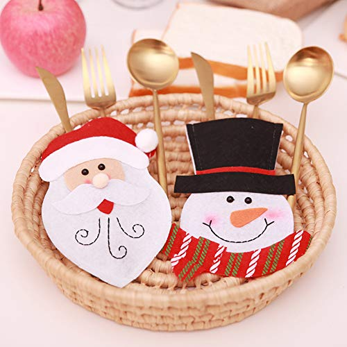 CHoppyWAVE Cutlery Pouch, Christmas Tableware Case Silverware Spoon Fork Holder Pocket Santa Dinner Decor - 1# by CHoppyWAVE (Image #2)