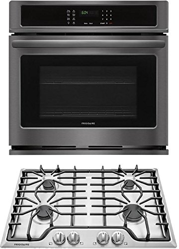 Frigidaire 2-Piece Kitchen Package with FFEW3026TD 30″ Single Wall Oven and FFGC3026SS 30″ Gas Cooktop