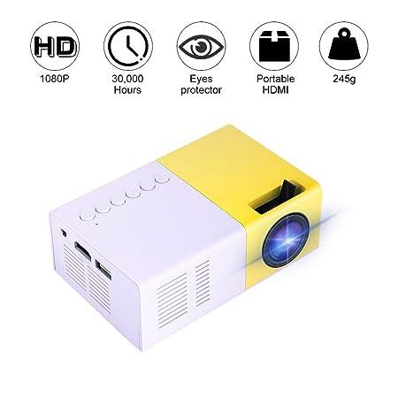 Linbing123 Mini proyector, 1500 Lumen Proyector de Video portátil ...