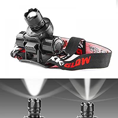 WHITE / GREEN Spot and Flood Retractable Lens Heavy-duty CREE LED Headlight
