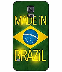 Made in Brazil Plastic Phone Case Back Cover Samsung Galaxy S5 I9600