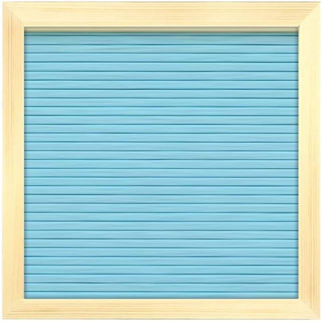 bleu clair 25,4/x 25,4/cm Tableau m/émo Tableau dLettre en feutrine 10x10 Inch interchangeable