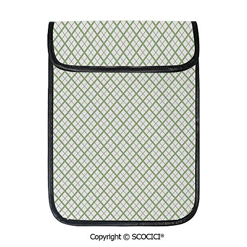(SCOCICI Protective Storage Carrying Sleeve Case - Picnic Table Inspired Modern Geometric Pattern in Square Shapes Retro Decorative Compatible with 12.9 Inch iPad Pro Tablet)