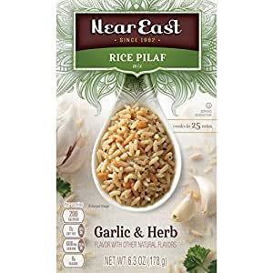 Near East Rice Pilaf Mix, Garlic & Herb, 6.3oz Box