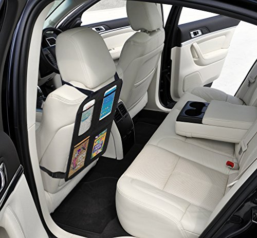 lebogner Car Seat Protector + Kick Mat Auto Seat Back Protector With 4 Organizer Pockets, Durable Quality Seat Covers + Waterproof Kick Guards To Protect Your Leather And Upholstery Seats From Damage by lebogner (Image #4)