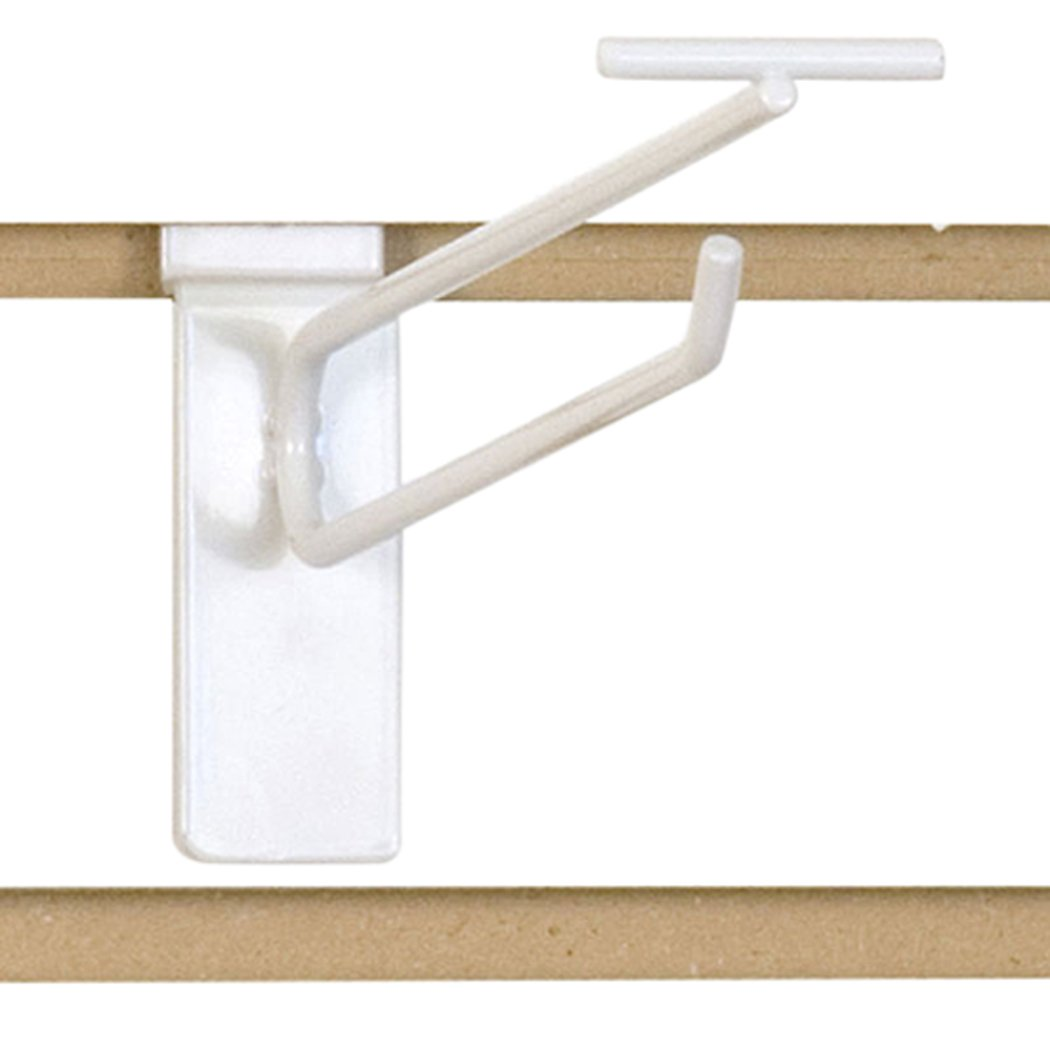 KC Store Fixtures A01882 Slatwall Scanner Hook, 8'', White (Pack of 100)