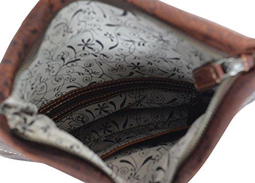 Gusti Leder studio ''Scarlett'' Borsetta in Cuoio Borsa a Tracolla Pratica Comoda alla Moda Shopping Vera Pelle Stile Cuoio Vintage Marrone 2H24-20-13