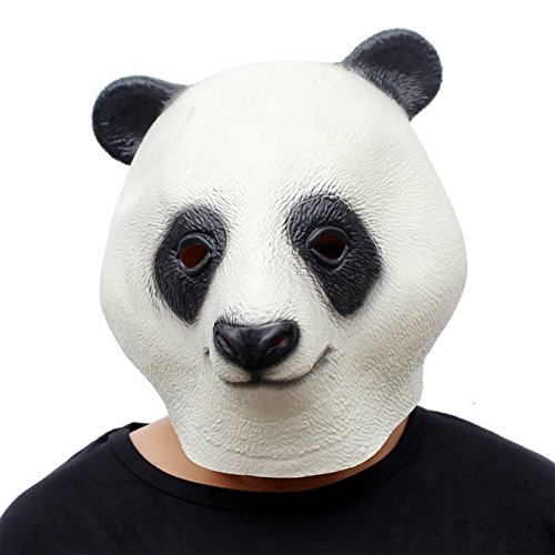 CreepyParty Novelty Halloween Costume Party Latex Animal Head Mask Panda - http://coolthings.us