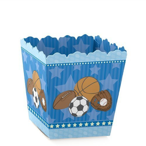 All Star Sports Toy Box - Big Dot of Happiness All Star Sports - Party Mini Favor Boxes - Baby Shower or Birthday Party Treat Candy Boxes - Set of 12