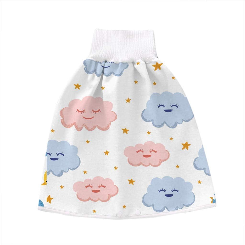 Gsupez 2PCS Bequeme Windelrock-Shorts f/ür Kinder for 0-4 Years Old//A 2-in-1-waschbarer atmungsaktive Baby-Windelrockhose windb/ündiger Windelrock mit hoher Taille