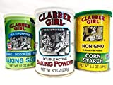 Clabber Girl Bundle 3pk Baking Soda, Powder & Corn Starch