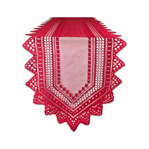DII 100% Polyester, Machine Washable, Crochet/Lace Table Runner,