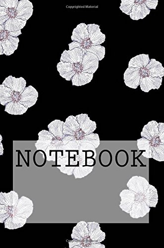 Notebook: Flower Petals in Black, Lake District. Dotted (6