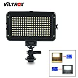 VILTROX VL-162T CRI 95+ On Camera 3300K-5600K Bi-color Temperature Dimmable Ultra Brightness LED Video Light Lamp Panel , with LCD Display and hot Shoe adapter mount