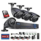 ANNKE 4CH 720P/1080N CCTV DVR System with 1000GB Hard Drive included and (4) 1280TVL Security Cameras with Super Night Vision IP66 Weatherproof